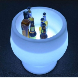 Cubitera luminosa led 'Big Cup', luz RGB 16 colores