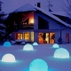 Bola LED solar 40cm, lámpara esfera de 7 colores RGB, incluye función de cambio de color + anclaje, cable usb de carga