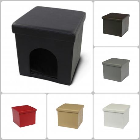 Caseta para Perro o Gato Puff Asiento Plegable  (Varios colores)