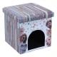 Caseta Print para Perro o Gato Puff Asiento Plegable  (Varios colores)