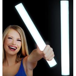 Bâtons lumineux en mousse LED blanche, 48x4cm