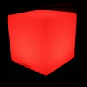 Cubo luminoso led 50cm, luz 16 colores, portátil