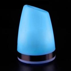 """Lámpara de mesa """"Keops"""" luz led monocolor azul, batería recargable"""