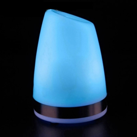 "Blue Monocolor LED Table Lamp ""Keops"", rechargeable battery"