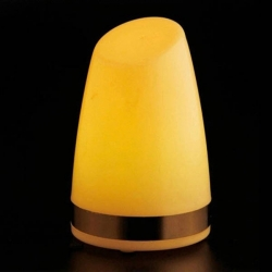 "Yellow Monocolor LED Table Lamp ""Keops"", rechargeable battery"