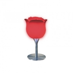 Mesa Rose con pie, iluminada con luz, led, RGB, sin cables
