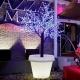 Vaso com luz  led, Roma,  RGB, recargábel