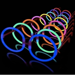 Lunettes lumineuses, rondes, hippies, 10 unités