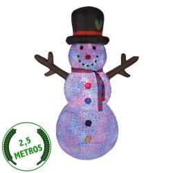 Snowman - Muñeco de Nieve Luminoso Auto-Inflable Hinchable Gigante para Exterior