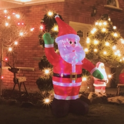 Santa -Papá Noel Luminoso Auto-Inflable Hinchable Gigante para Exterior