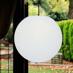 Boule de pendentif led 40 cm, lumière chaude