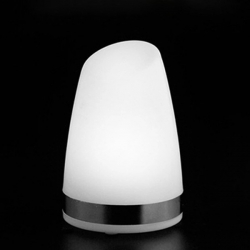 "White Monocolor LED Table Lamp ""Keops"", rechargeable battery"