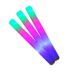 Led luminous party foam sticks multicolor