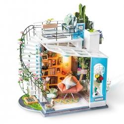 DIY Miniatura Casita muñecas Loft Dora Robotime