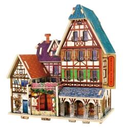 3D Wood Puzzle DIY Model France Hotel