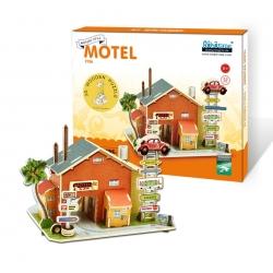 DIY Puzzle Gasolinera 3D Motel Motor Inns Robotime