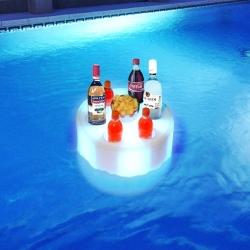 Bandeja Led RGB flotante acuatica recargable
