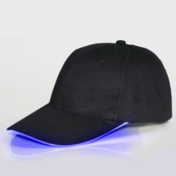 Boné LED preto ou branco - Party Cap