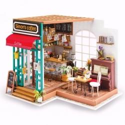 DIY Casa de Muñecas Café de Simon Miniatura Puzzle 3D