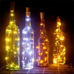 6 Corks fête guirlande LED, 20 LED, 200cm