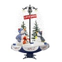 LED Tree 170 cm Christmas Decoration with Snow and snowman family