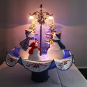 LED Tree 75 cm Christmas Decoration with Snow and Snowman family