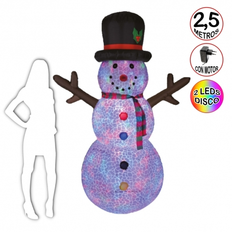 Inflatable Snowman 2,5 metres
