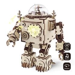 DIY Orpheus Robô Caixa de música quebra-cabeça maquete 3d
