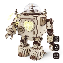 Orpheus 3D Assembly Wooden Puzzle Laser-Cut Robot Kit