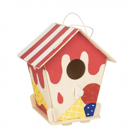 DIY Painting 3D Puzzle  Bird Little House