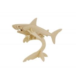 6 Puzzle Tiburón 3D para Pintar Regalo Grupos Niños Invitados Cumpleaños