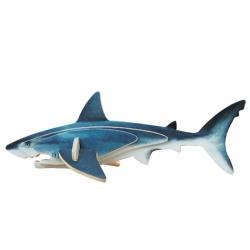 Pack de 12 Mini-Puzzle 3D Tiburón Azul Regalo Grupos Niños Invitados Cumpleaños