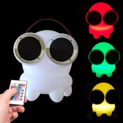 Lampe LED pour enfants Bob Bluetooth Speaker Light 16 Couleurs, Portable