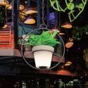 Macetero, Maceta colgante con luz led 16 colores Roma , mando y batería recargable