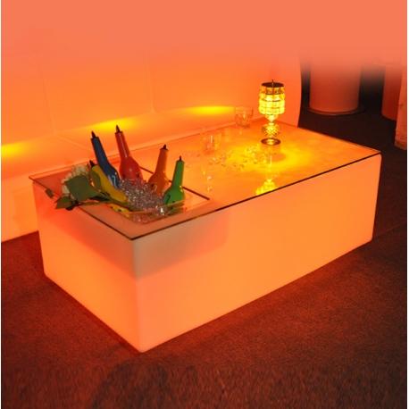 Quad-table avec lumière LED RGBW 16 couleurs, commande et batterie rechargeable