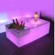 Mesa cubitera con luz Led RGB 16 colores, mando y batería recargable