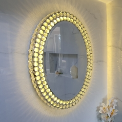 Mirror with Led Light Oval Luxury