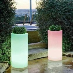 Pot Luminous pot LED 'Cies' 40x80 cm, lumière 16 couleurs