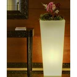 Solar LED Flowerpot 90cm 16 RGBW colors light 'Amsterdam'