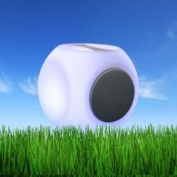 Cube Bluetooth haut-parleur LED lumineux 20cm, lumière 16 couleurs, portable