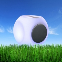 Led light bluetooth speaker cube, 20 cm, light of 16 colors, portable