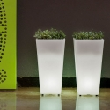 Solar LED Flowerpot 60cm 16 RGBW colors light 'Amsterdam'