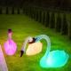 Cisne solar 80 cm, flutuante, lâmpada LED RGB mudança de cor
