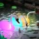 Floating Swan, 80 cm solar RGB LED Lamp, color change