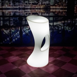 Stool with RGBW led light, H84cm, without cables