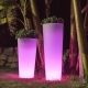 Solar LED Flowerpot 60cm 16 RGBW colors light 'Amsterdam'