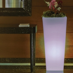 Planter Flowerpot 110cm with solar led light RGBW 16 colors 'Amsterdam'