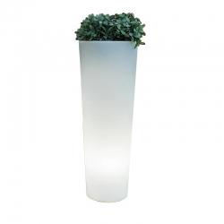 Macetero Maceta 80cm con luz led solar 16 colores RGBW 'Ficus'