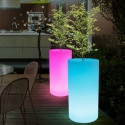 Macetero Maceta luminosa led 'Cies', varios tamaños, luz 16 colores