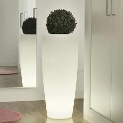 Vaso Plantador de 90cm solar + bateria com luz led 16 cores RGBW 'Bambú'